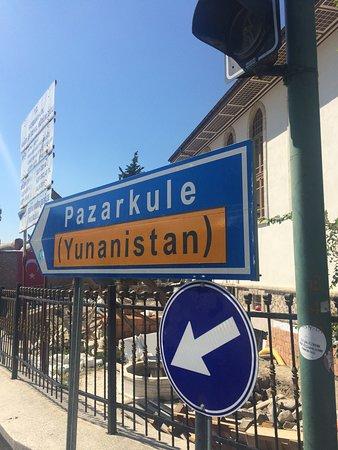 Edirne Province, Turkey: Signboard menuju Yunani