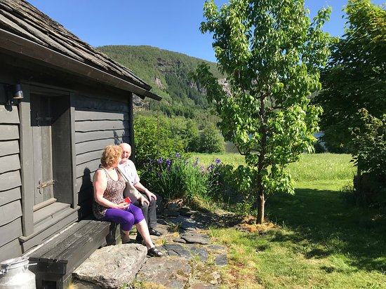 Hjelmeland Municipality, Norway: I Eldhusveggen under Sommarutstillinga - By the old Smoke house, Summer exhibition