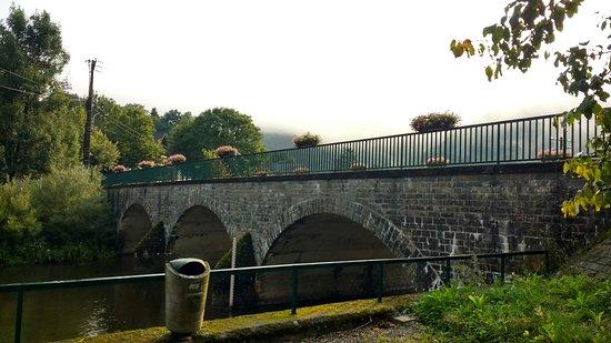 Ouren, Belgia: Bridge over river Our, Burg-Reuland, Belgium