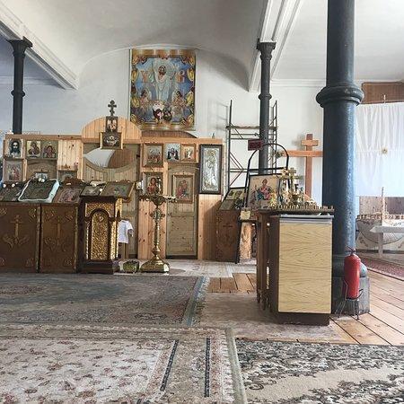 Tabynskoye, Rosja: Церковь Вознесения Господня. Многие пишут об особой атмосфере этого места. Так оно и есть. В это