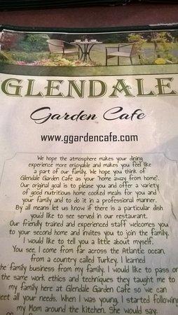 Glendale Garden Cafe Toledo Ohio Menu