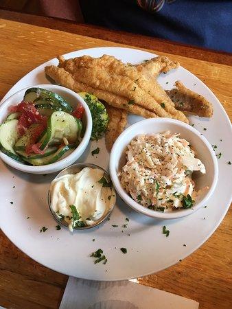 The Sweet Onion: Sweet Onion Catfish (3 pcs), slaw, salad