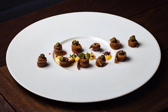 Zori Restaurant: Salted anchovies with Aioli sauce