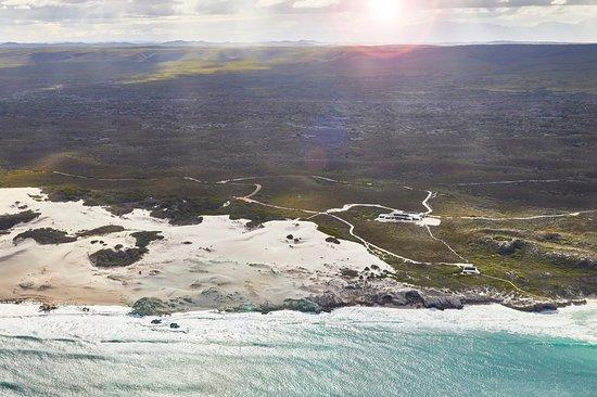 De Hoop Nature Reserve, Južná Afrika: Morukuru Beach Lodge aerial view