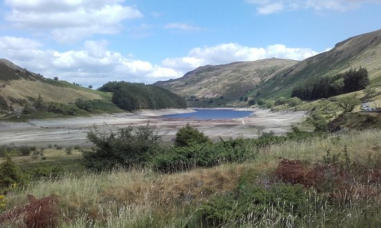 Haweswater Reservoir: A rather dry Haweswater from car park