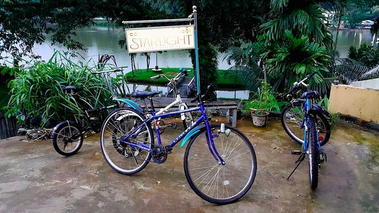 Ye, Burma: bikes for rent (the blue ones)