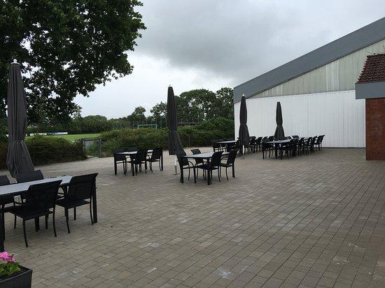 Dorum, Jerman: Terrassenbereich - bei gutem Wetter sicher nett