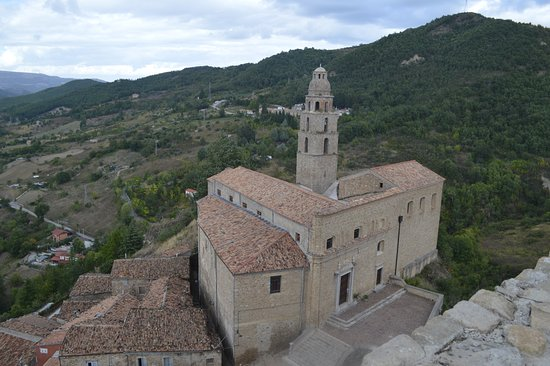 The church overlooks the quaint village of Laurenzana, pop 2,500.
