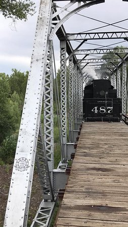 Cumbres & Toltec Scenic Railroad: Bridge before arriving in Chama