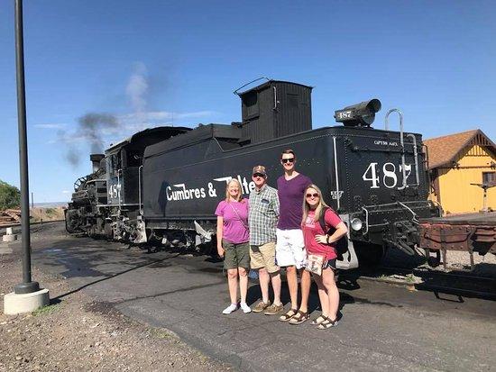 Cumbres & Toltec Scenic Railroad: Family pic with engine