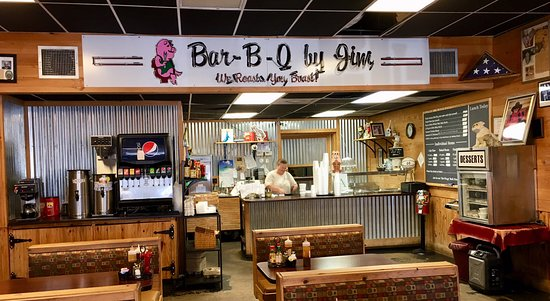 Bar-B-Q By Jim: Inside the restaurant