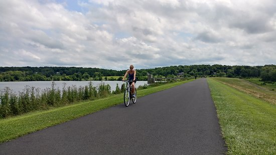 New Britain, PA: Very biker- runner- and hiker-friendly. This long straightaway crosses the dam that makes the la