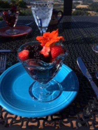 Chehalem Ridge Bed and Breakfast: edible flower - yummy