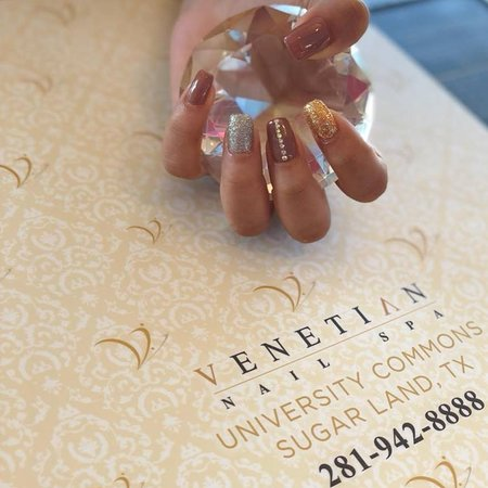 Glitter Design Picture Of Venetian Nail Spa University Commons