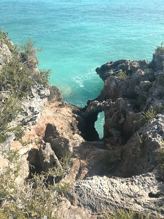 Sapodilla Bay: looking down from the cliff