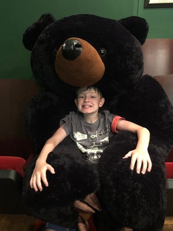 Plymouth, Северная Каролина: Such a fun feature of the theater - sitting with a bear! :)
