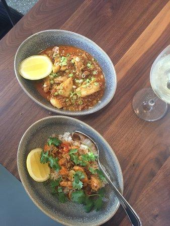 Chubby Fish: Chili Garlic Shrimp and Grouper Cheeks with Chorizo