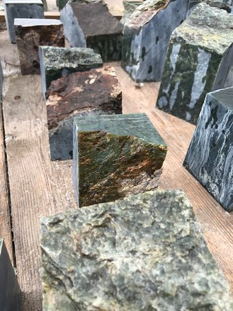 Dease Lake, Canada: more somewhat rough pieces of jade.