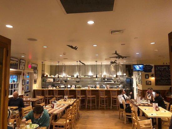 interior bar seating cool model airplanes hanging from ceiling rh tripadvisor com  trendy restaurant interiors