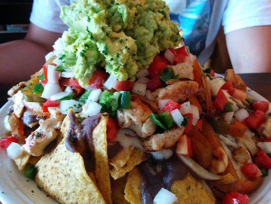 Cafe Atitlan: Big plate of nachos