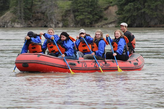 Hinton Rafting Adventures : Concentration is needed at times to circumnavigate your watery way!