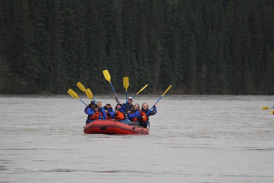 """Hinton Rafting Adventures : Oars up! This means you are having an """"Oarsome"""" time!"""
