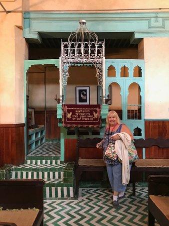 The bima in the Aben Danan Synagogue, Fes, Morocco