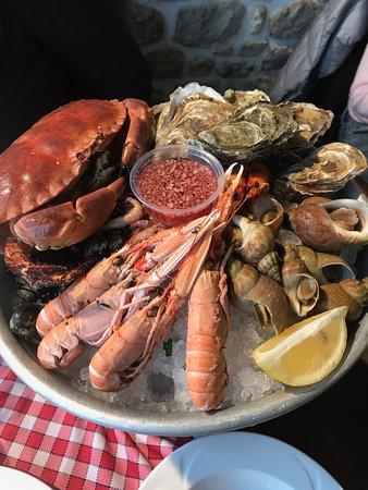 Restaurant de l'hotel Croix Blanche : Seafood Platter