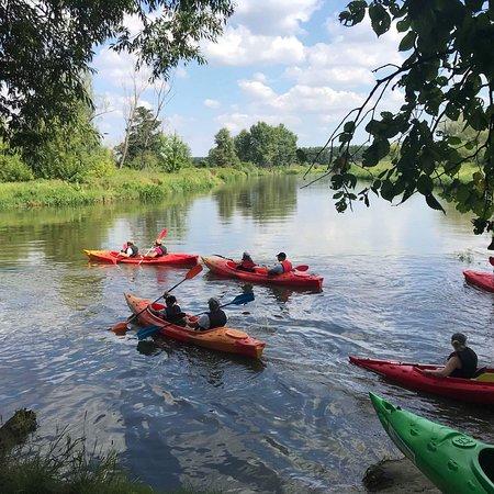 Deblin, โปแลนด์: Kajakami po Wieprzu