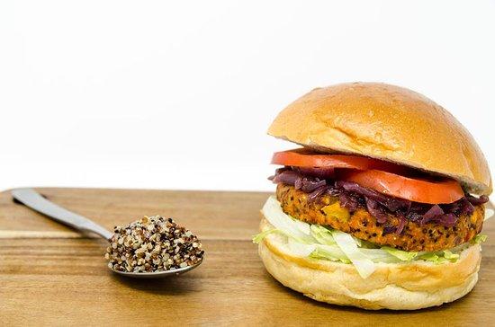Fries with Benefits: Vegan quinoa burger