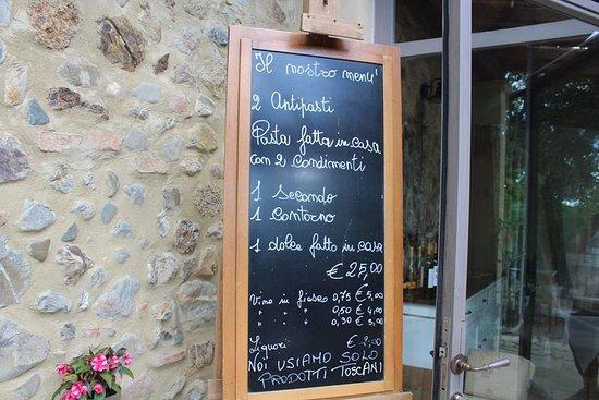 Antica Locanda Sant'Anna: Il menù della settimana: sempre e soltanto 25 euro a persona.