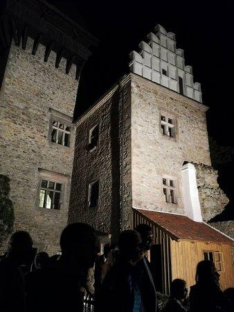 Vysocina Region, Czech Republic: Noční prohlídka hradu Lipnice