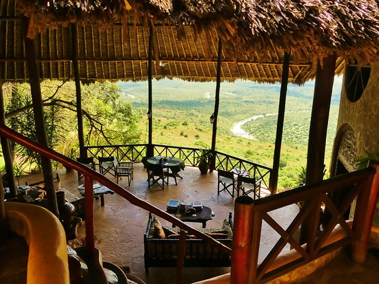 Kwale, Kenya: Lunch with a view like this...... amazing!