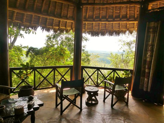 Kwale, Kenya: A lovely room with a fantastic veiw...or, a fantastic veiw with a lovely room.