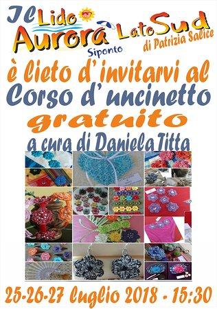 25 26 27 Luglio Dalle 1530 Corso Di Uncinetto Gratuito Foto Di