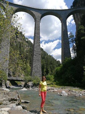 Filisur, Schweiz: Виадук Ландвассер ( немецкий : Landwasserviadukt )