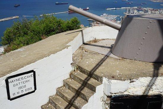 """Westside: Hayne's Cave Battery...""""The Rock""""..Gibraltar."""
