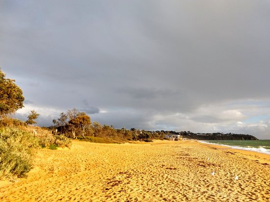 Safety Beach: Winter time, but bright blue sky, everchanging cloud formations and brilliant lighting condition