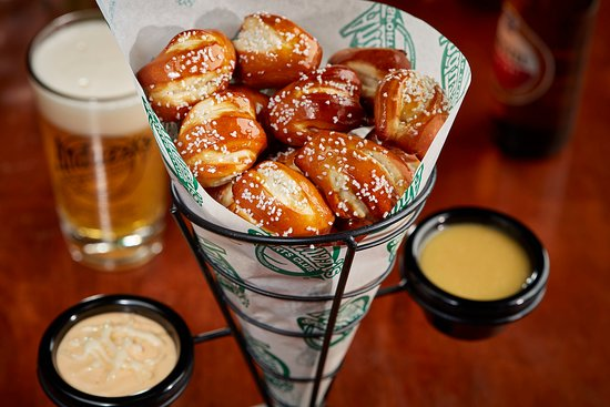 Ashwaubenon, Wisconsin: Pretzels and Spotted Cow Cheese Dip!
