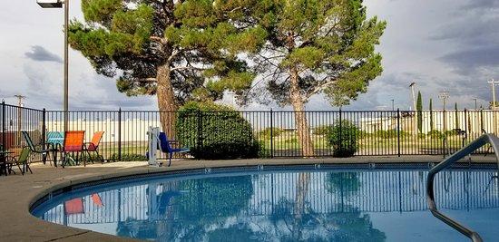 Poolside during monsoon season at Rodeway Inn, Sierra Vista, AZ