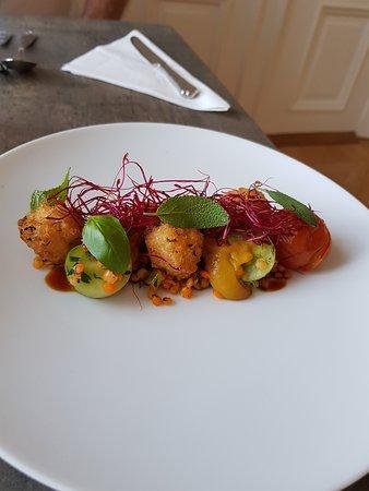 Andrarum, Sweden: En av flera spännande rätter i fine dining på Tastecelebration Residence