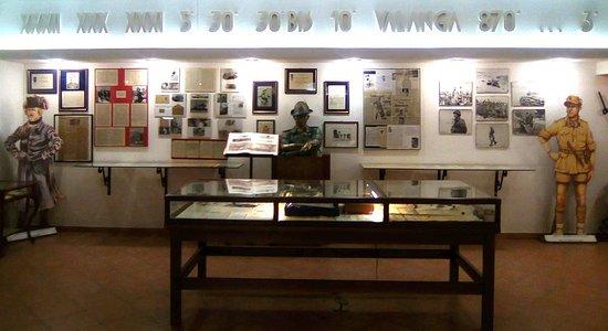 Udine, Italia: vista frontale della sala dedicata a Paolo CACCIA DOMINIONI ed al XXXI Btg