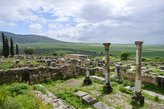 Volubilis: Beautiful setting for the ancient site