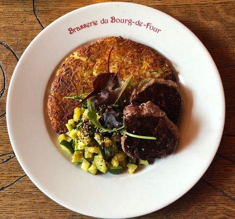 Cafe du Bourg de Four: Filet and Rosti