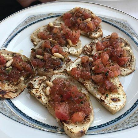 Chez Braccioforte: Melanzane grigliate con pomodoro