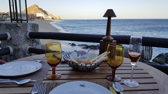 El Farallon Very Good Bread Basket And View From Our Dinner Table