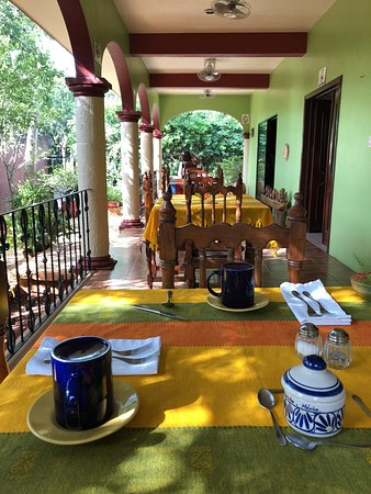 Santa Elena, México: Restaurant in the morning