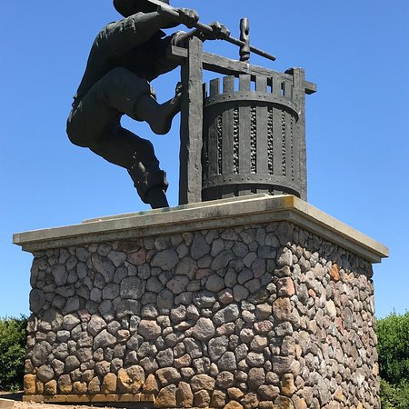 Grape Crusher Statue