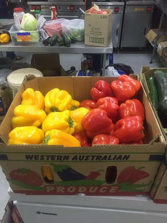 Fresh Capsicums Picked In The Morning And On The Menu In The