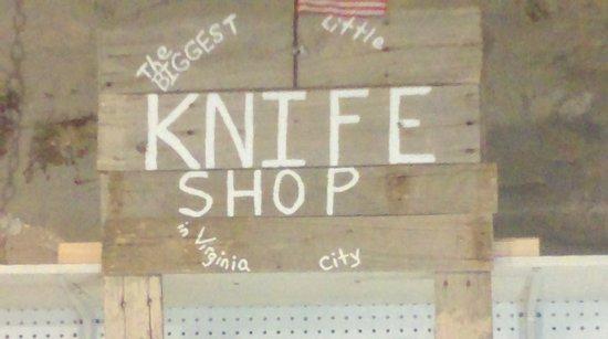 Virginia City, NV: Over 800 knives